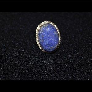 Chunky Lapis Lazuli Ring 7 1/2
